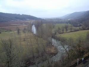 MONT SANV vue vallée après crue 10.02.03 - V. Lavergne